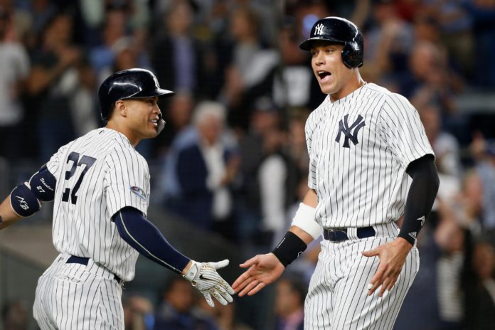 Judge and Stanton both homered on tuesday