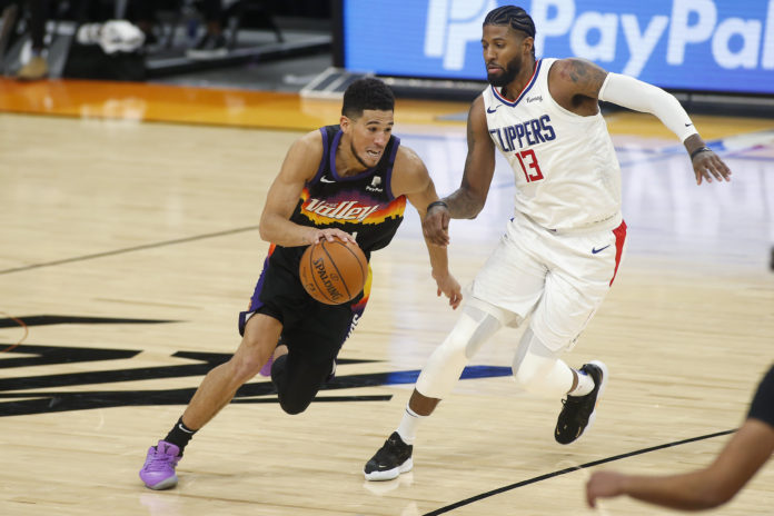 Devin Booker and Paul George match-up in the western conference finals