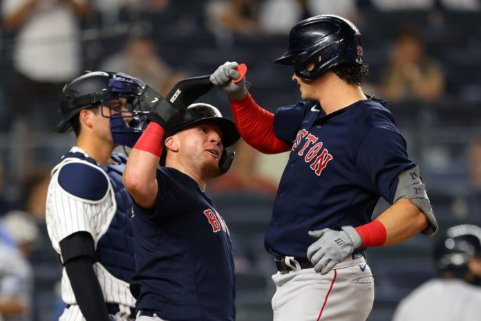 The Red Sox look to continue to rake against the Yankees