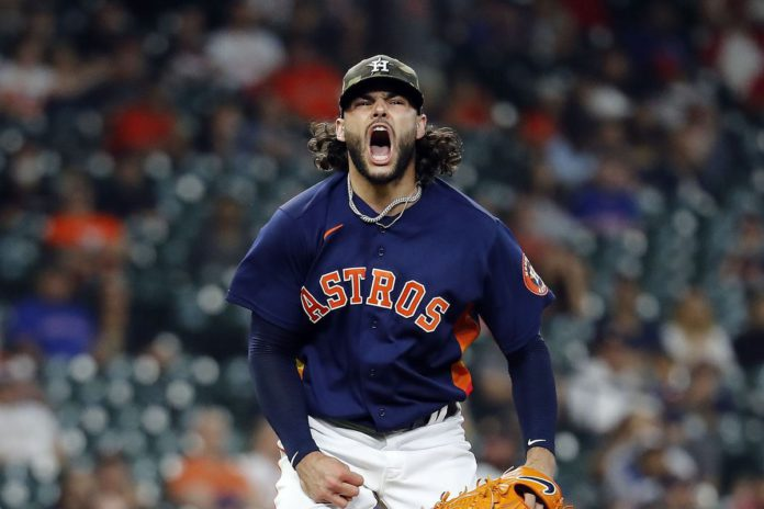 Lance McCullers Jr celebrates during a game