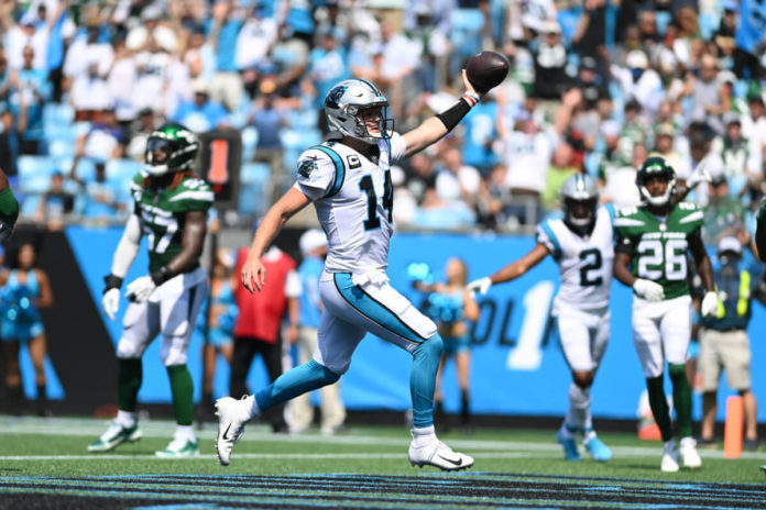 Sam Darnold lead the Panthers to a Week 1 win over the Jets.