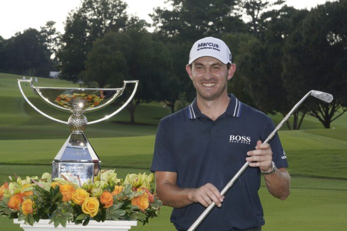 patrick cantlay after winning the tour championship