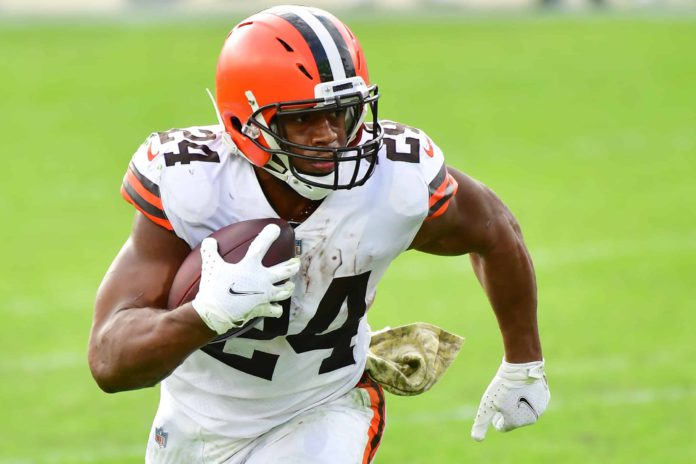 chubb is primed for a big day in week 2. He's in our FTNxSuperDraft NFL Picks Week 2 lineup